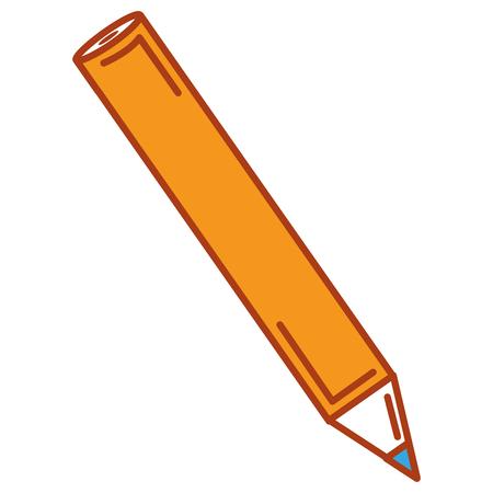 Colored pencil isolated icon vector illustration design