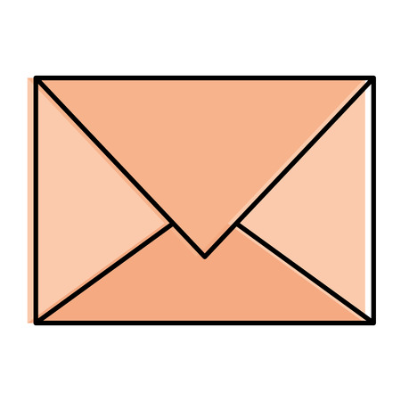 Colored mail envelope isolated icon vector illustration design