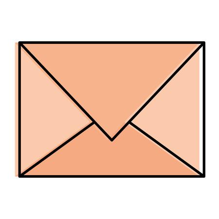 Gekleurd vector de illustratieontwerp van het postenvelop geïsoleerd pictogram Stock Illustratie
