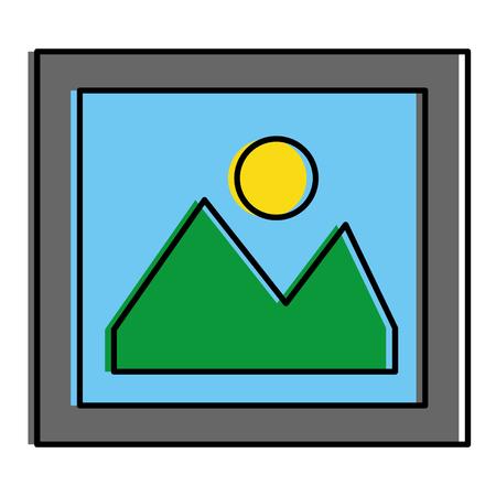 画像ファイルのアイコン ベクトル イラスト デザインを分離しました。