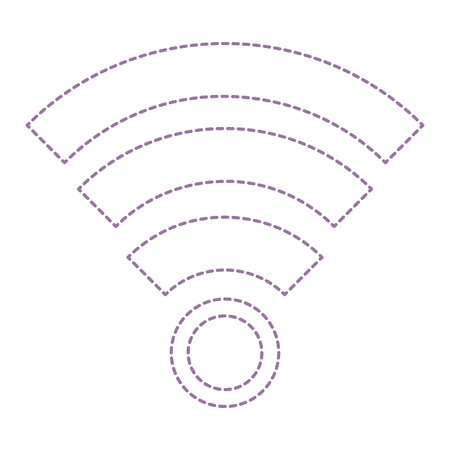 Wireless internet signal isolated icon vector illustration design Illustration