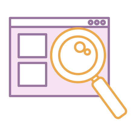 template with magnifying glass isolated icon vector illustration design