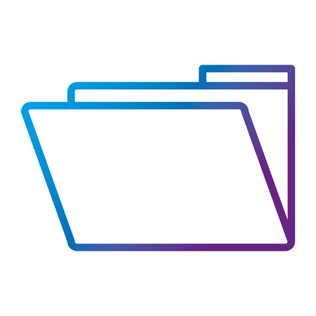 folder document isolated icon vector illustration design Illusztráció