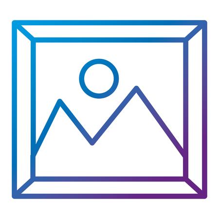 fotobestand geïsoleerd pictogram vector illustratie ontwerp Stock Illustratie