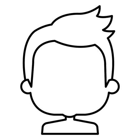 リトル・ボーイズ・上半身裸アバターキャラクターベクターイラストデザイン