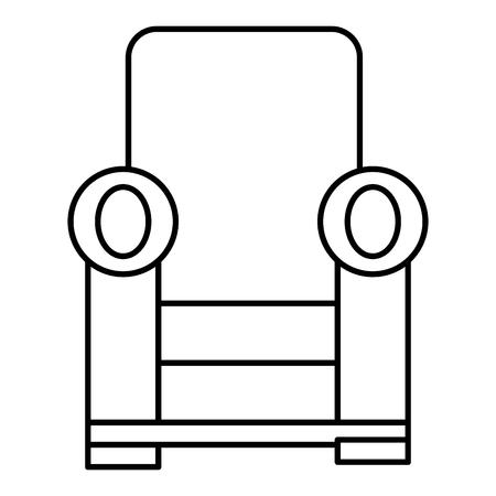 快適なソファ分離アイコン ベクトル イラスト デザイン