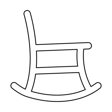 Sedia a dondolo isolato icona illustrazione vettoriale illustrazione Vettoriali