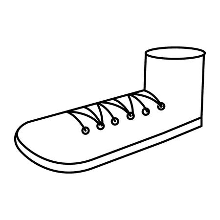 shoe grandfather isolated icon vector illustration design