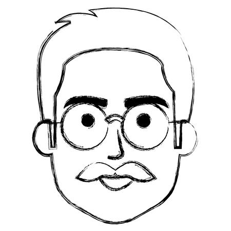 젊은이 머리 아바타 캐릭터 벡터 일러스트 디자인 스톡 콘텐츠 - 88416567