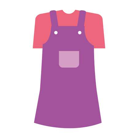 little girl clothes isolated icon vector illustration design