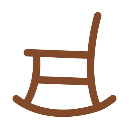ロッキングチェア分離アイコン ベクトル イラスト デザイン  イラスト・ベクター素材