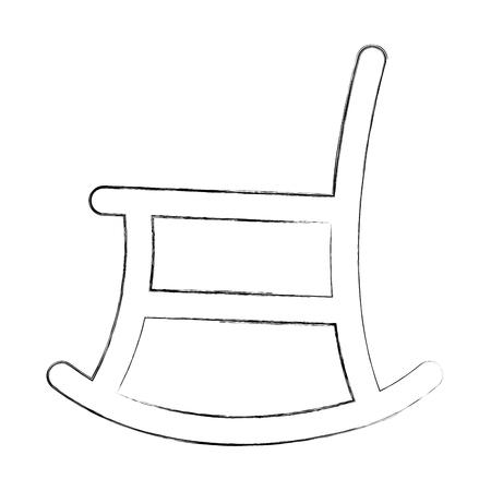Silla de balancín icono aislado diseño de ilustración vectorial Foto de archivo - 88416797