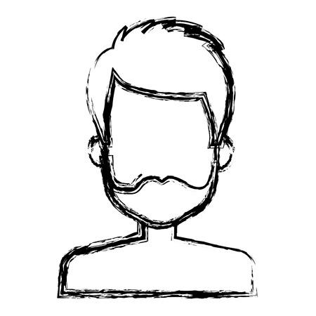 niño sin camisa: young man shirtless avatar character vector illustration design