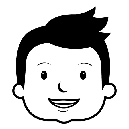little boy head avatar character vector illustration design Illustration