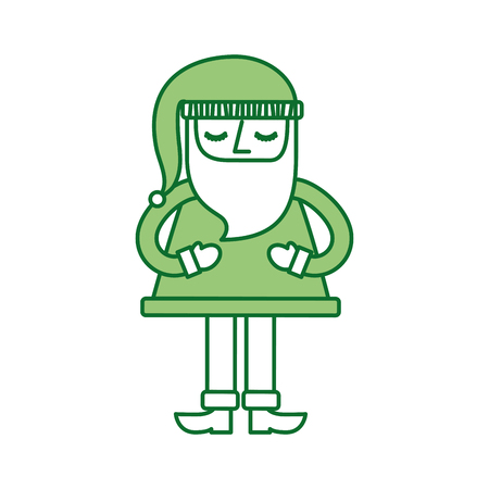 christmas santa claus standing character vector illustration