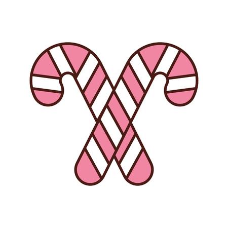クリスマス 2 キャンディー杖ミント甘いベクトル イラスト  イラスト・ベクター素材