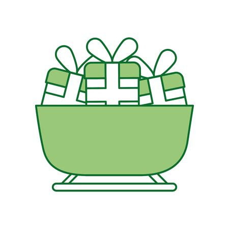 Noël boîte de cadeaux de fonte décoration de noël illustration vectorielle Banque d'images - 88429718