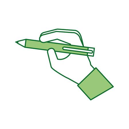 hand with pen write concept vector illustration Illusztráció
