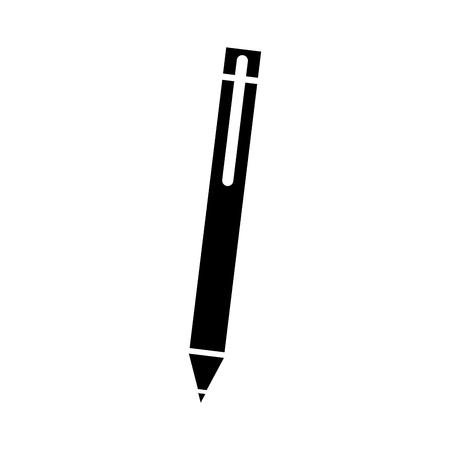 donkere pen voor het schrijven van brief levering object vectorillustratie