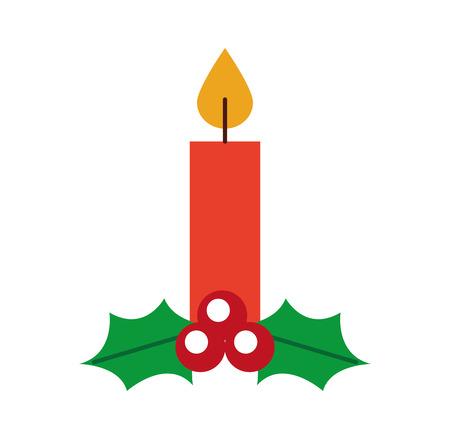 Ilustración de vector de decoración de celebración de vela de Navidad Foto de archivo - 88431119