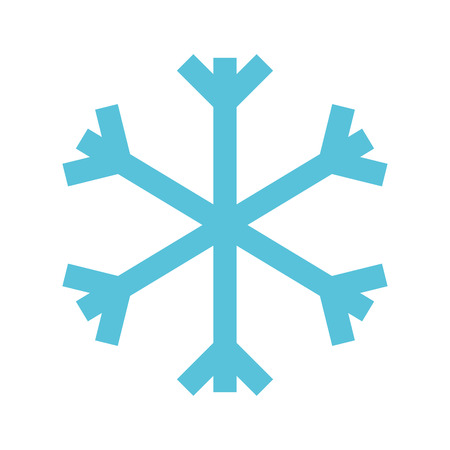 christmas blue snowflake snow decoration winter symbol vector illustration Illustration