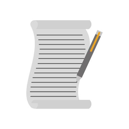 christmas wish list and pen write design vector illustration Çizim