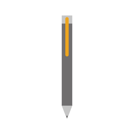 cute pen for writing letter supply object vector illustration