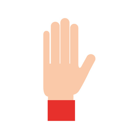 hand showing five finger gesture icon vector illustration