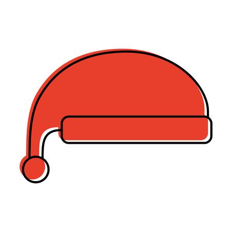 christmas hat clothes of santa decoration vector illustration Ilustracja