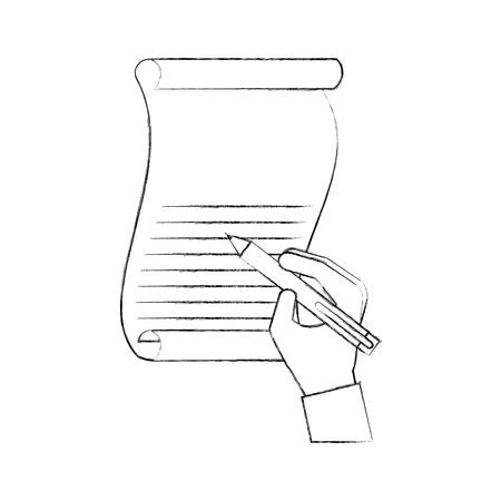 친애하는 산타 벡터 일러스트 레이션을 작성하는 크리스마스 손 편지