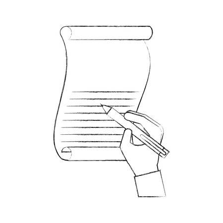 christmas hand writing letter gifts dear santa vector illustration Illustration