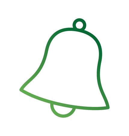 christmas bell jingle celebration festive vector illustration