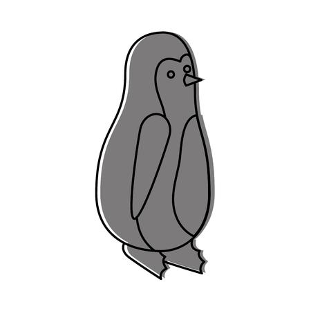 christmas penguin animal decoration funny vector illustration Ilustracja