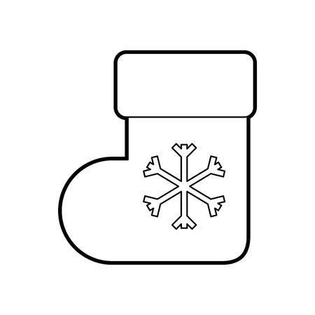 Kerst Sokken verrassing decoratie Sierlijke vectorillustratie Stock Illustratie