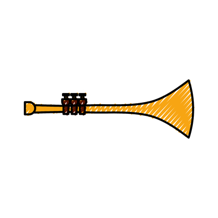 Trumpet wind musical instrument.