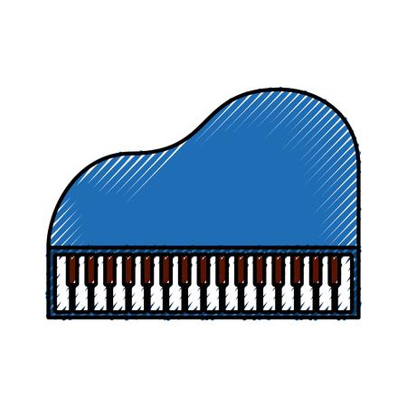 피아노 음악 악기입니다. 일러스트
