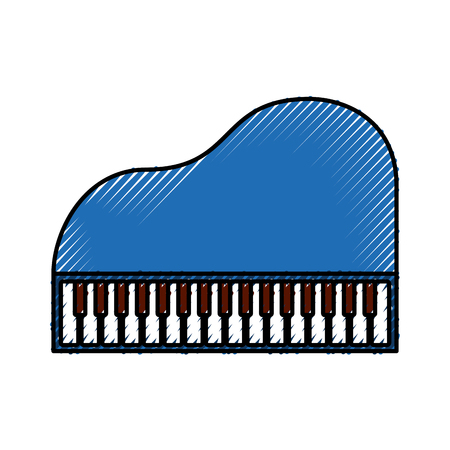 Piano music instrument. Ilustrace