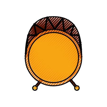 ドラムの低音音楽トップ アイコン ベクトル図