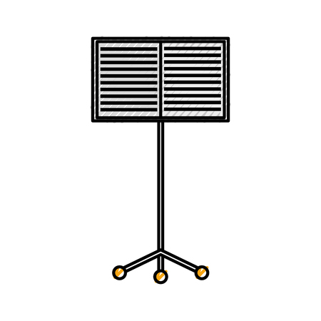 譜面台帳コンサート メロディー ベクトル イラスト  イラスト・ベクター素材