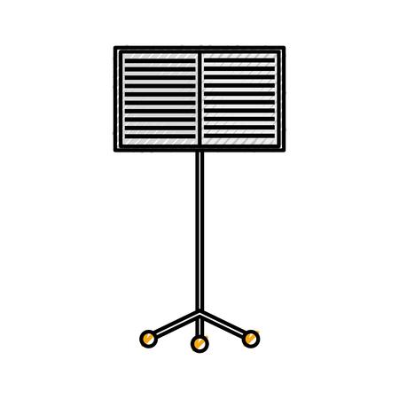 Musik Stand Flugzeug Konzert Melodie Vektor-Illustration Standard-Bild - 88432630