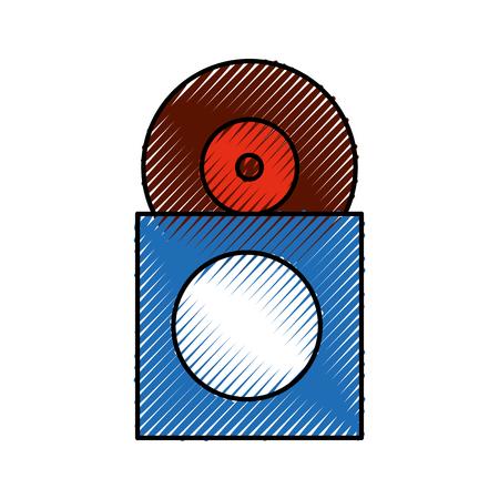 papercase ベクトル図にビニール レコード ディスクの音楽コレクション アルバム カバー  イラスト・ベクター素材