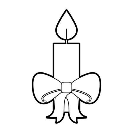 크리스마스 촛불 굽기 축하 장식 벡터 일러스트 레이션 일러스트