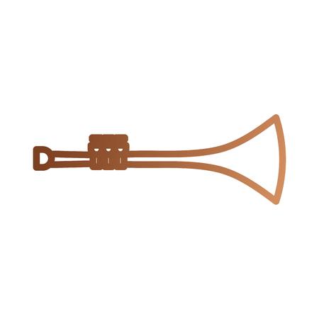 트럼펫 바람 악기 경적 벡터 일러스트 레이션