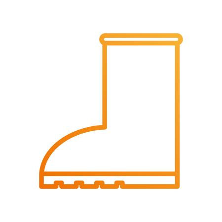 Chaussure en caoutchouc pluie icône icône saisonnière sur fond blanc illustration vectorielle Banque d'images - 88433051