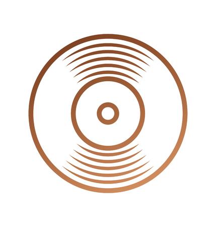 music vinyl disk vintage cartoon vector illustration 向量圖像