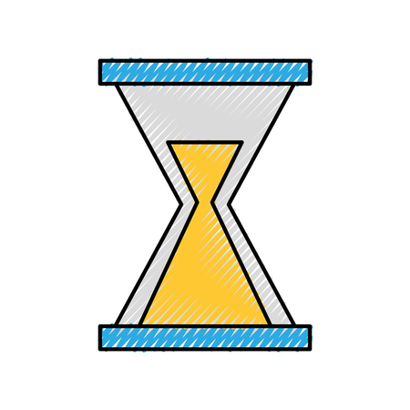 business hourglass time countdown hour vector illustration Illustration