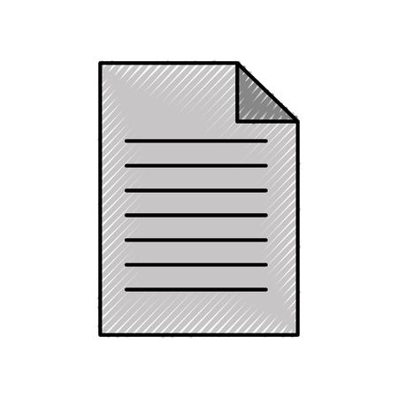 Papierdokument Business Datei Blatt Büro Vektor-Illustration Standard-Bild - 88433209