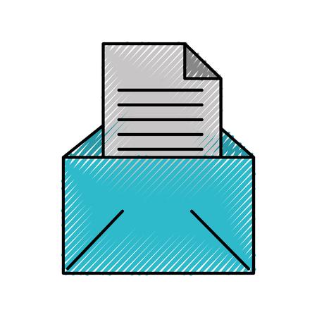 E-Mail Nachricht Buchstaben Umschlag offenes Symbol Vektor-Illustration Standard-Bild - 88433507