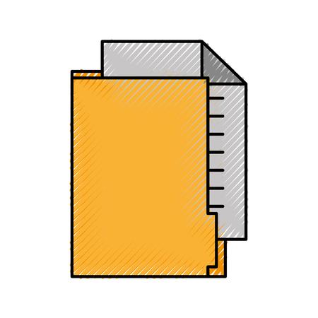 사무실 폴더 파일 문서 용지 정보 벡터 일러스트 레이션