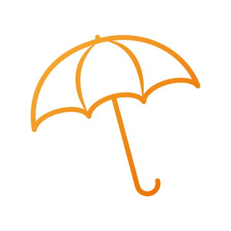 umbrella rainy season protection accessory vector illustration Vectores
